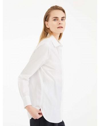 MAX MARA STUDIO -Camicia SMIRNE in Popeline di Cotone- Bianco