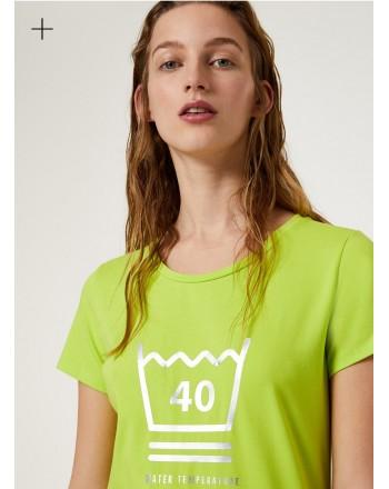 LIU-JO Sport - T-Shirt in cotone con stampa- Germ