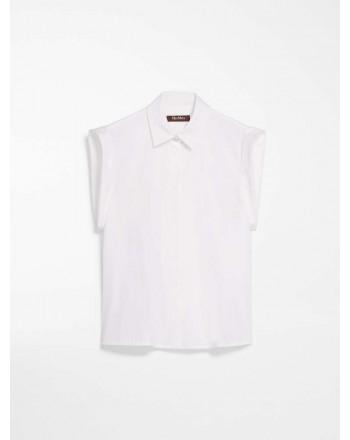 MAX MARA STUDIO - MUSCARI Cotton Popeline Shirt- White