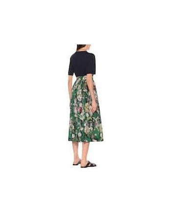 DRIES VAN NOTEN - Gonna a stampa floreale in cotone - Verde