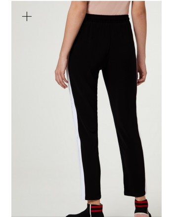 LIU-JO Sport - Trouser with strass - Black/White