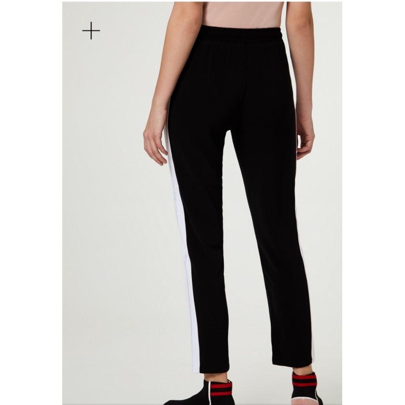 LIU-JO Sport - Pantalone con strass - Nero/Bianco