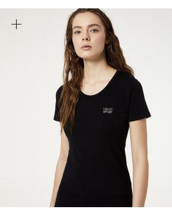 LIU-JO Sport - T-Shirt BASIC in cotone - Nero