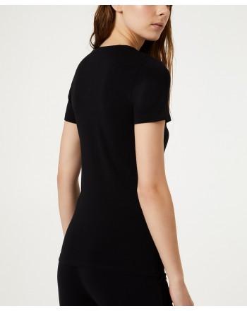 LIU-JO Sport - T-Shirt BASIC in cotone - Nero