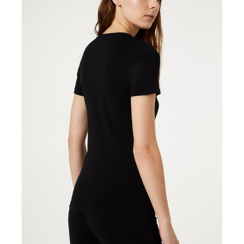 LIU-JO Sport - BASIC Cotton T-Shirt - Black