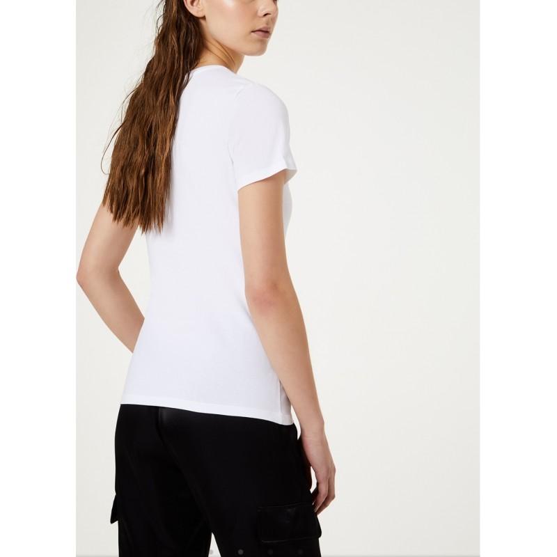 LIU-JO Sport - T-Shirt BASIC in cotone - Bianco