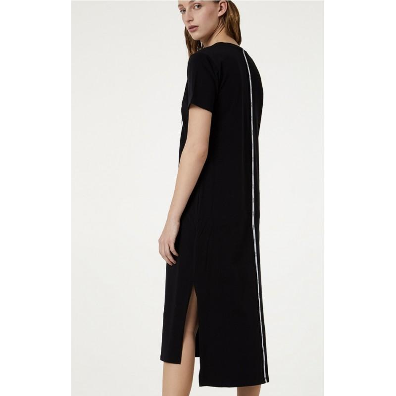 LIU-JO Sport - Dress with frontal print - Black