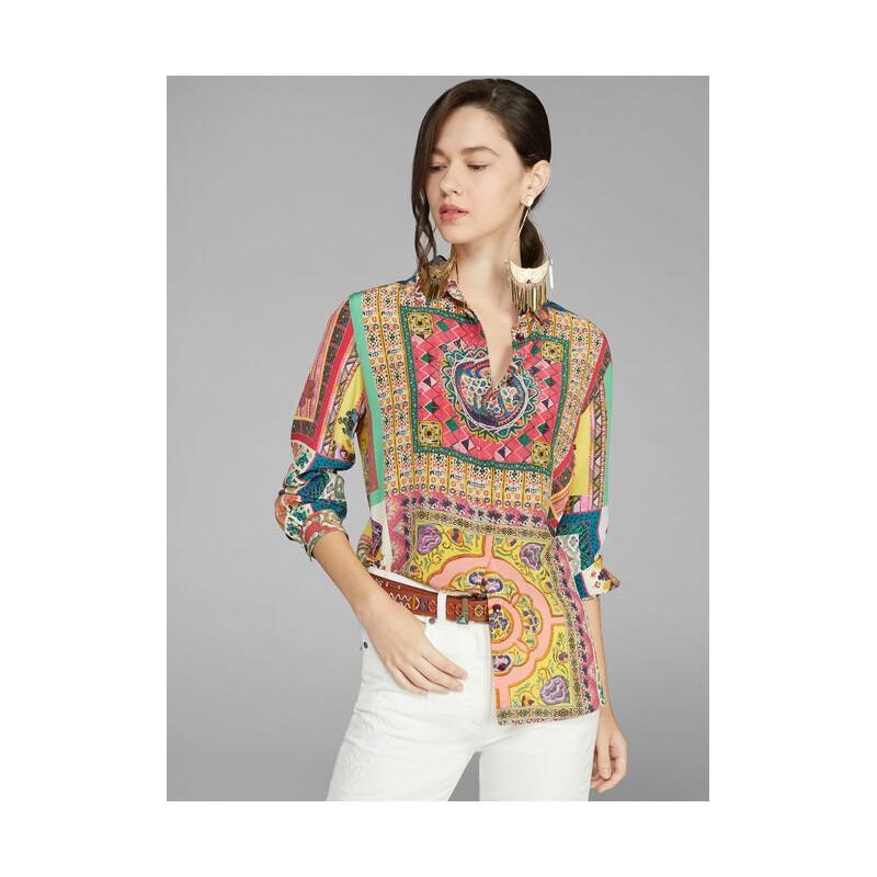 ETRO - Camicia in Crepe de Chine MINI - Fantasia
