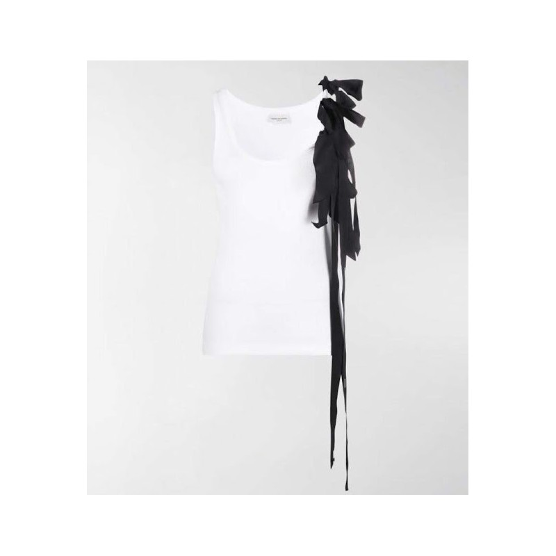 DRIES VAN NOTEN - Tank top with bows - White