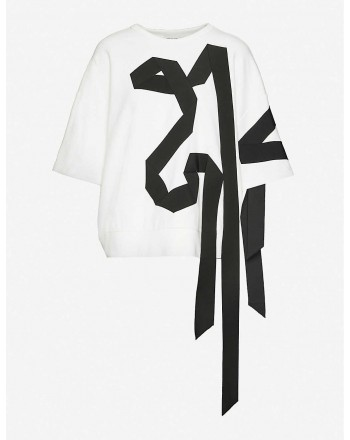 DRIES VAN NOTEN - Cotton jersey sweatshirt - White