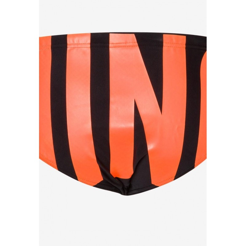 Moschinomare u -  RUBBER LOGO SWIM BRIEFS -ORANGE