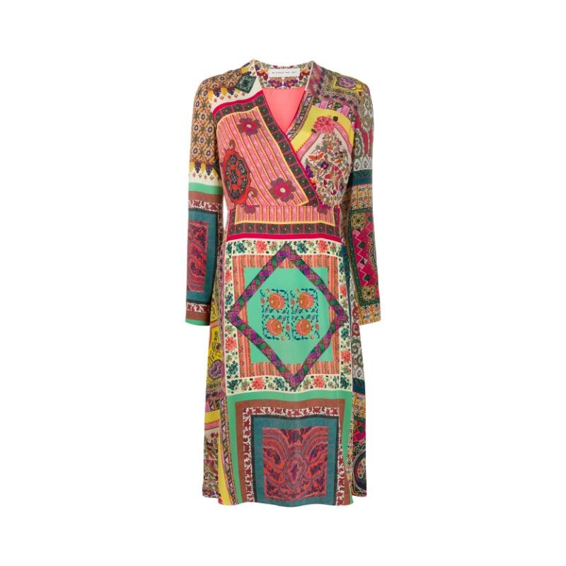 ETRO- GIGLIO Silk Midi Dress- Multicolour