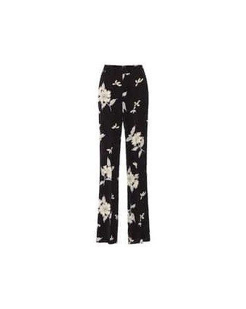 ETRO - Viscose Crepe Trousers- Black