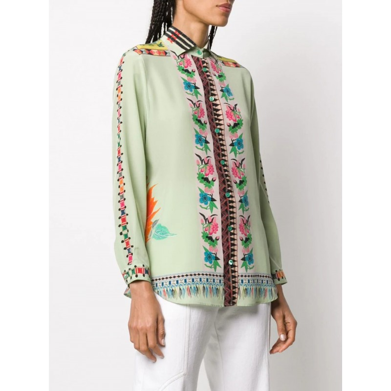 ETRO- Silk Boy Fit Shirt- Multicolour