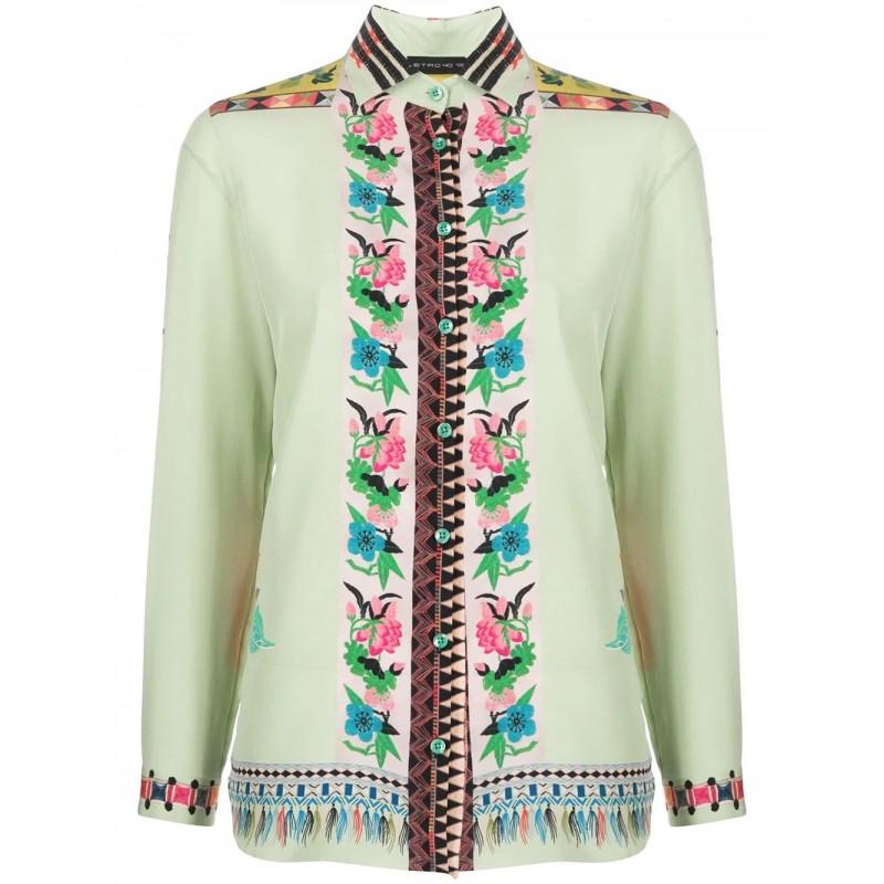 ETRO - Camicia in Seta Boy Fit - Fantasia