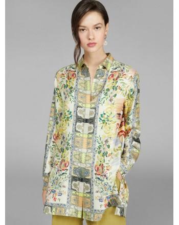 ETRO - Camicia in Twill di Seta con Disegno a Mano- Fantasia