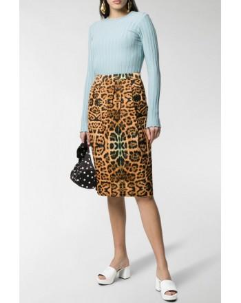 DRIES VAN NOTEN - Leopard print skirt - Spotted