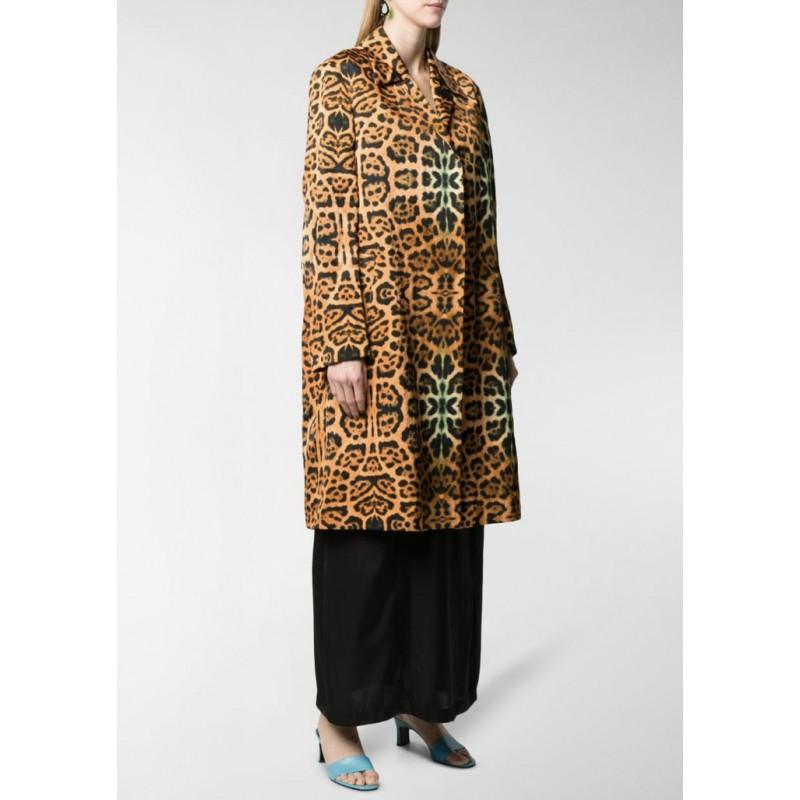 DRIES VAN NOTEN - Leopard print overcoat - Spotted