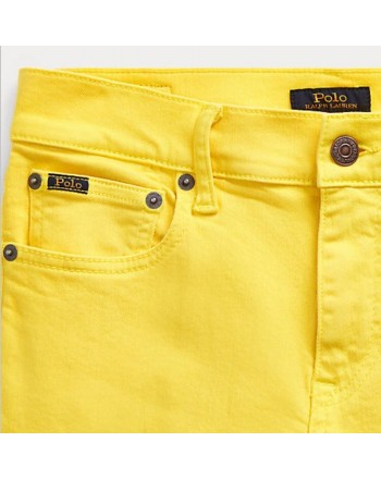 POLO RALPH LAUREN - JEANS STRETCH COLORATO GIALLO