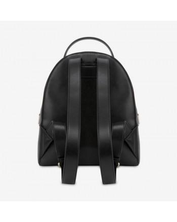 LOVE MOSCHINO- Logo Heart Backpack - Black/Red