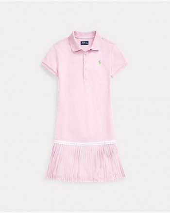 POLO RALPH LAUREN KIDS - Abito mezza manica polo - Rosa