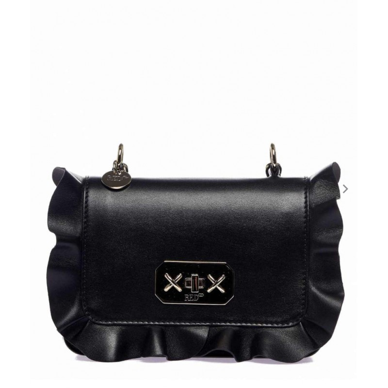 RED VALENTINO - ROCK RUFFLES shoulder bag - Black