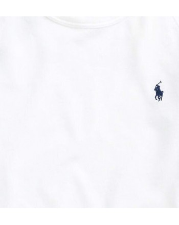 POLO RALPH LAUREN - Lightweight cotton sweatshirt - White