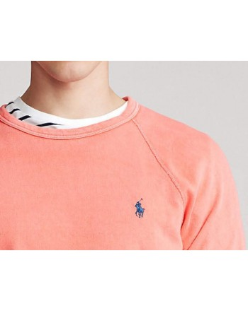 POLO RALPH LAUREN- Light cotton sweatshirt- Coral