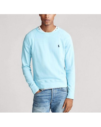 POLO RALPH LAUREN - Lightweight cotton sweatshirt - Turquoise