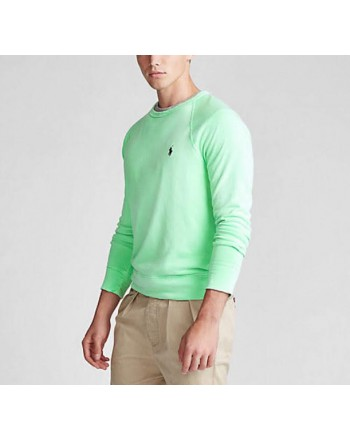POLO RALPH LAUREN - Lightweight cotton sweatshirt - New Lime