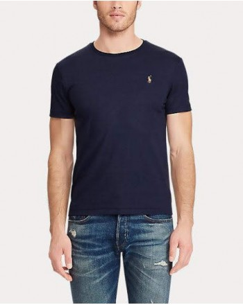 POLO RALPH LAUREN - T-shirt Cotone - Navy