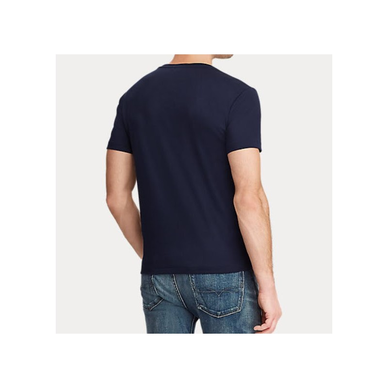 POLO RALPH LAUREN - T-shirt Cotone - Navy