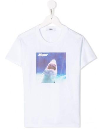 MSGM Baby -  T-shirt con stampa - Bianco