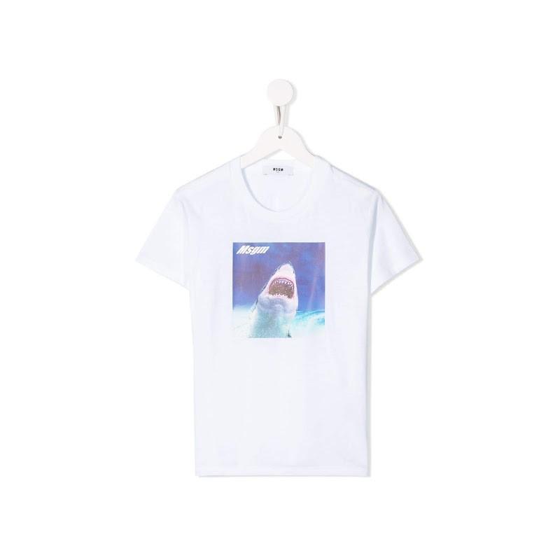 MSGM Baby - Printed T-shirt - White