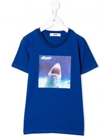 MSGM Baby - Printed T-shirt - Royal