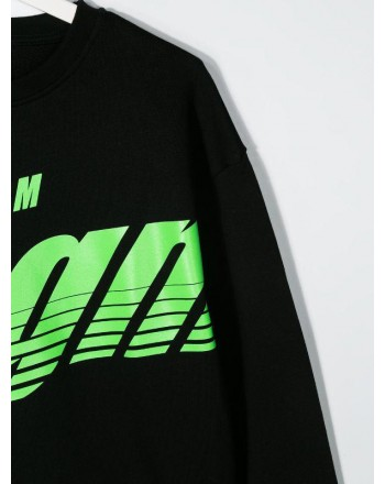 MSGM Baby- Fluo Logo Printed Sweatshirt - Black