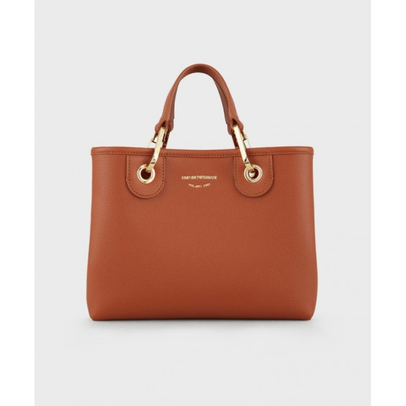 EMPORIO ARMANI - Leather Shopping Bag - Leather/Red