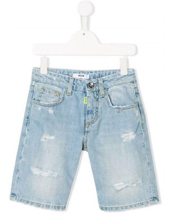 MSGM Baby - Denim Bermuda Pants -Denim