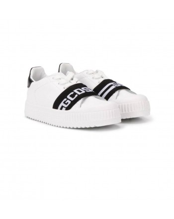 GCDS BABY- Sneakers G in Pelle - Nero