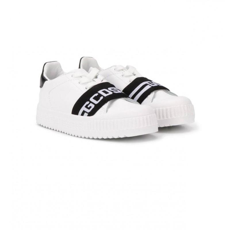 GCDS BABY- Sneakers G in Pelle - Nero