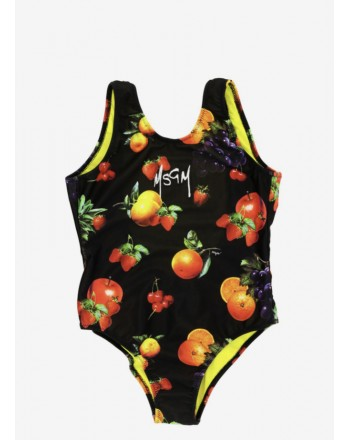MSGM Baby -  Costume intero Frutta - Nero