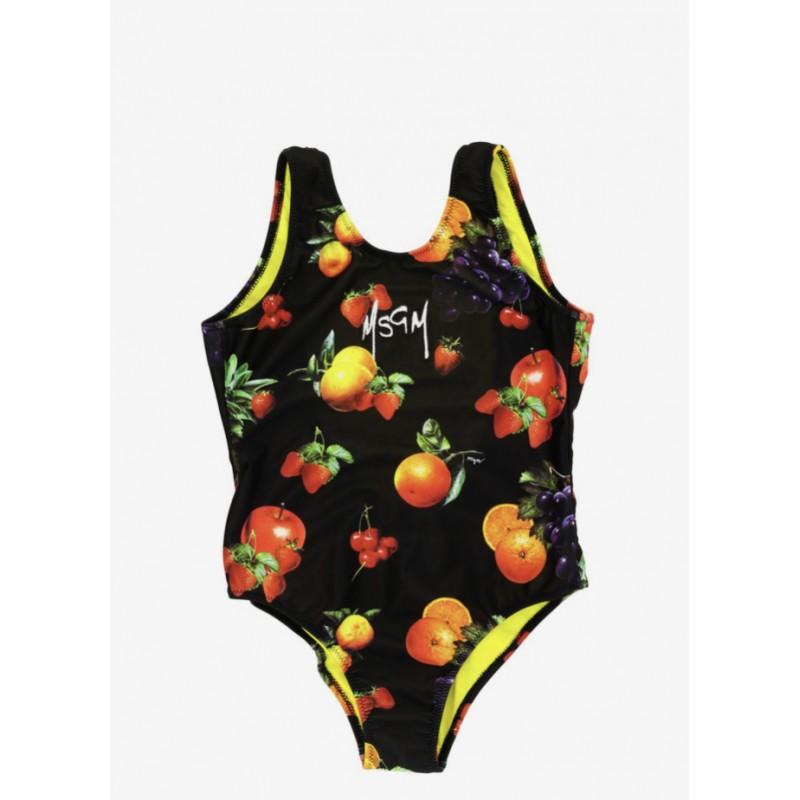 MSGM Baby -  Fruits Swimwear - Black