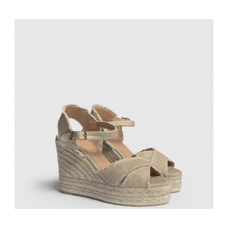 CASTANER - Espadrille BROMELIA - Light Gold