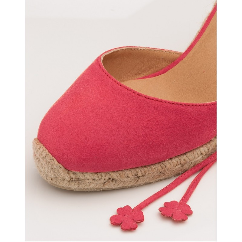 CASTANER - CARINA Espadrillas with Suede Laces - Lipstick Pink