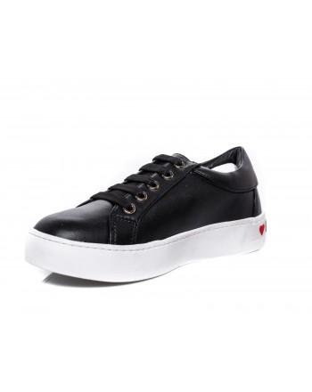 LOVE MOSCHINO - Sneakers con Patch a cuore - Nero