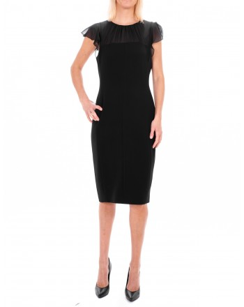 MAX MARA STUDIO - ESSENZA dress in Silk  - Black