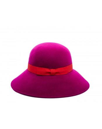 GALLO - Cappello a tesa larga in Lana - Magenta/Rosso