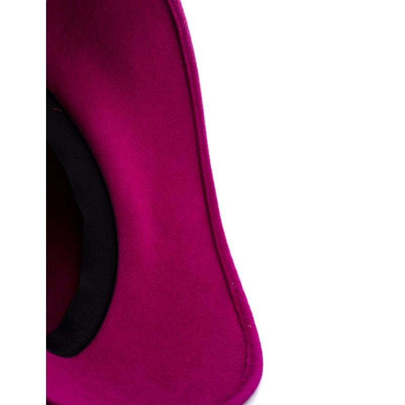 GALLO - Wide Brim Wool Hat - Magenta/Red