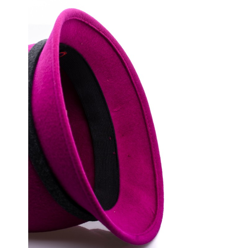 GALLO - Felt Cloche Hat - Magenta