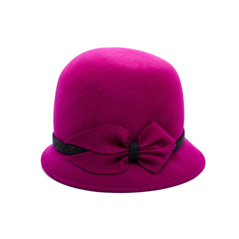 GALLO - Cappello Cloche in Feltro - Magenta